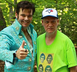 Elvis and his fan enjoying the Community Walk