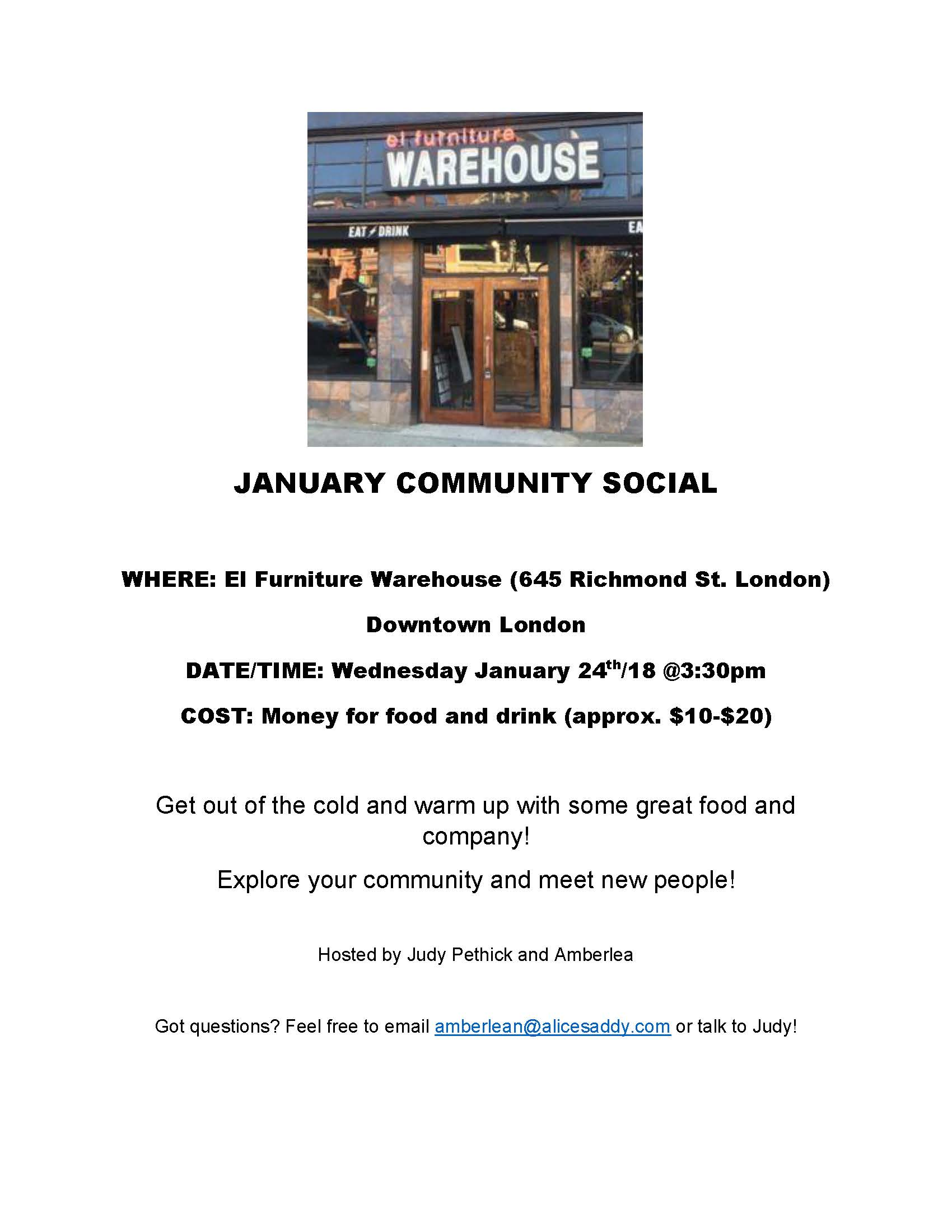 Community Social @ El Furniture Warehouse | London | Ontario | Canada