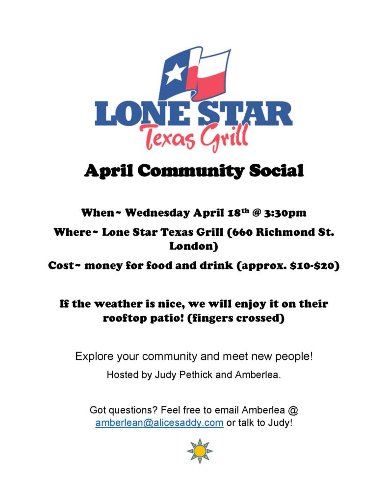 Community Social @ Lone Star Texas Grill | London | Ontario | Canada