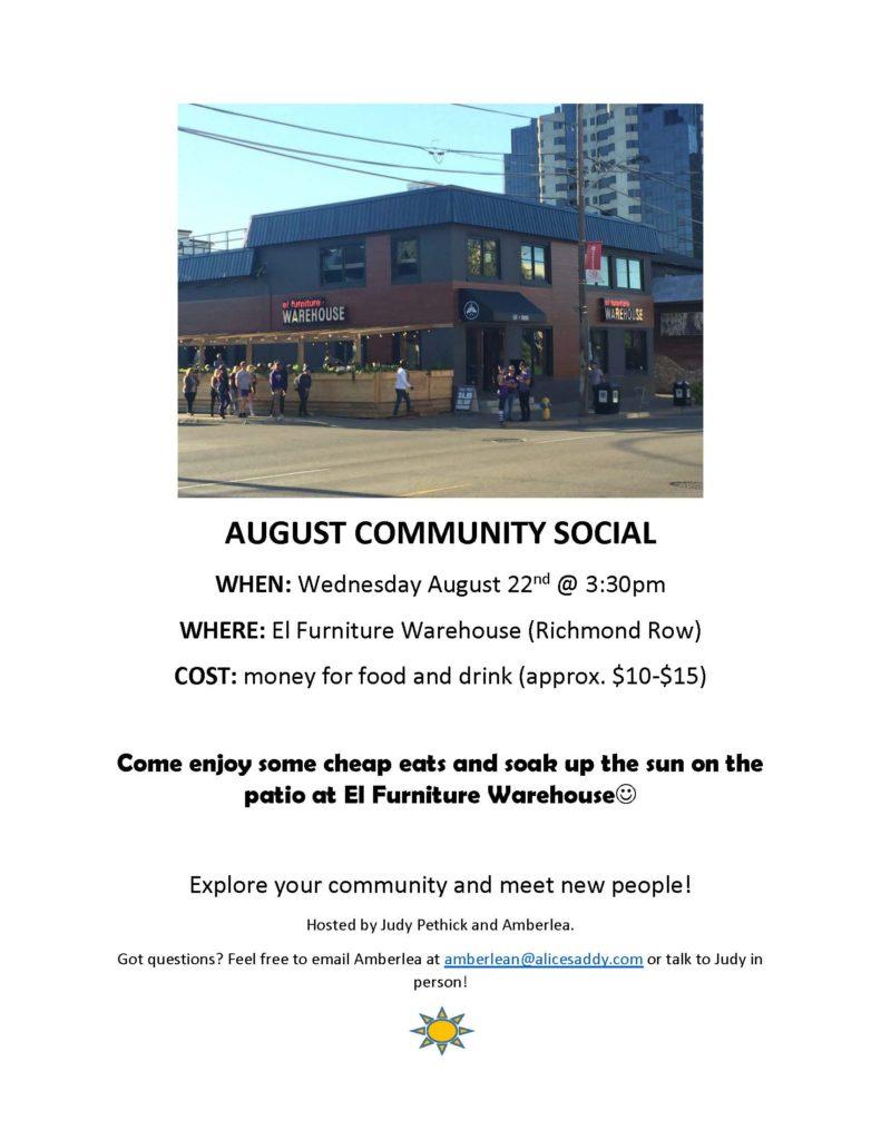 Community Social @ El Furniture Warehouse (Richmond Row) | London | Ontario | Canada