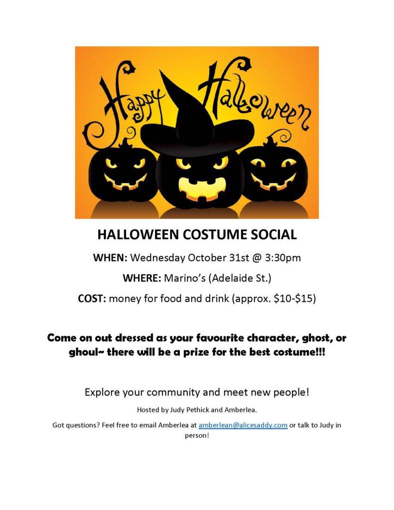 Halloween Costume Social @ Marino's Restaurant | London | Ontario | Canada