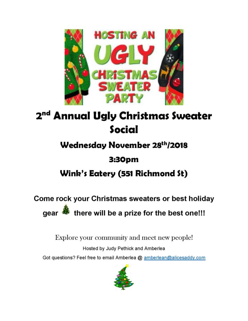 2nd Annual Ugly Christmas Sweater Social @ Wink's Eatery | El Cerrito | California | United States