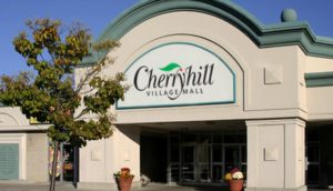 Outside entrance of Cherryhill Mall