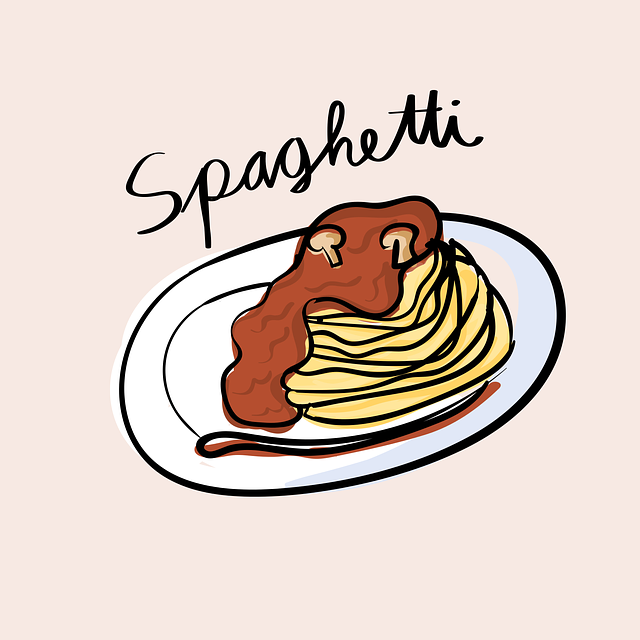 Drawing of spaghetti