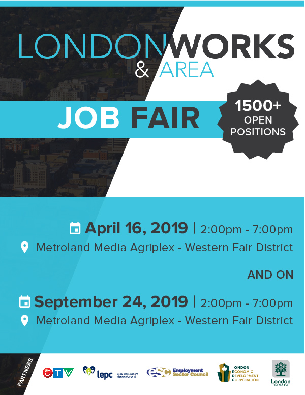London Works Job Fair April 16 2019 at Western Fair Agriplex